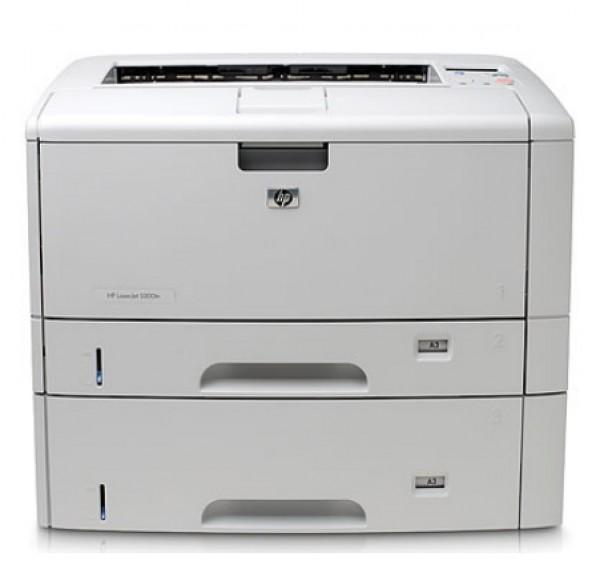 MÁY IN A3 HP LASERJET 5200DTN CŨ (in A3,Network,In Đảo Mặt, 2 Khay giấy gầm)